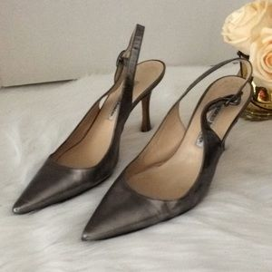 Manolo Blahnik Pointed Sling back heels